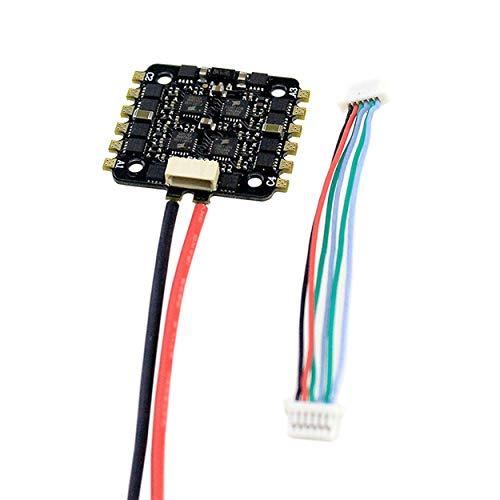 Lorenlli 15A 4-EN-1 BLHELI_S ESC Mini F3 F4 Tablero Controlador de Vuelo Barómetro Incorporado OSD 20x20mm Soporte sin escobillas 4S para FPV Drone