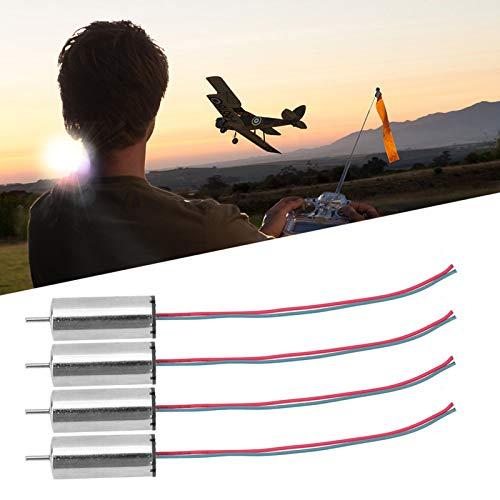 Motore a basso consumo Mini DC ad alta torsione spazzolato motori Coreless 4 pezzi per aeromobili fai da te per aeromobili giocattolo