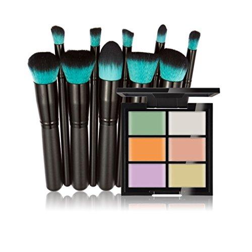FantasyDay® 6 Couleurs de Maquillage Crème Correcteur Concealer Contour Palette Fond de Teint Cosmétique Anti-cernes Mettez en Surbrillance Camouflage Palette + 10PCS Pinceaux de Maquillage #1