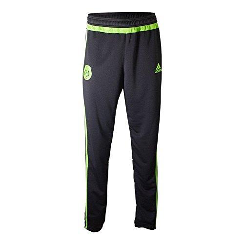 Adidas Mexico Fußball-Trainingshose (Schwarz, Halb-Solargrün), Größe M
