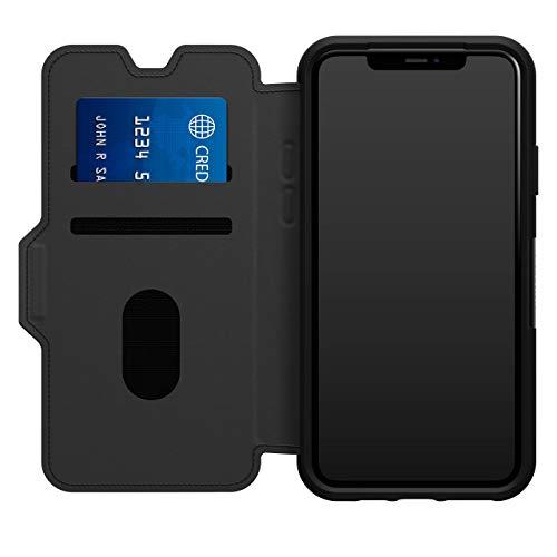 OtterBox para Apple iPhone 11 Pro Max, Funda Protectora con Tapa Folio de Piel, Strada Series, Negro