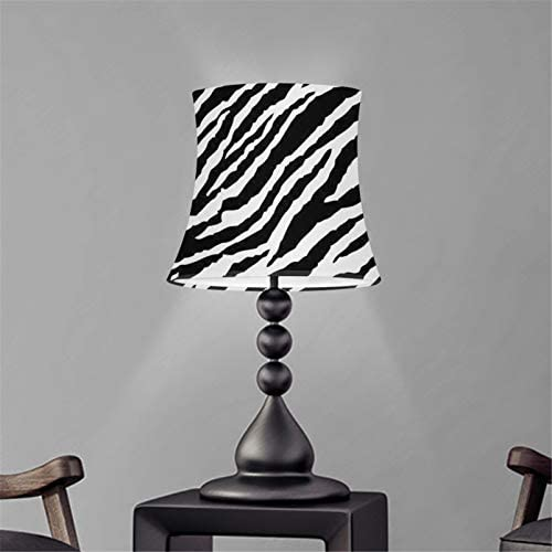 UZZUHI Black White Zebra Pattern Decorations Durable Polyester Drum Lamp Shades with UNO Metal product image