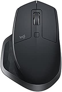 Logitech 910-005142 MX Master 2S Wireless Mouse with FLOW Cross-Computer Control and File Sharing for PC and Mac, Graphite Black