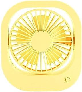 Ajuste del Ventilador eléctrico Superficie del Escritorio Carga de Silencio Enchufe USB de Doble Uso Ventilador pequeño Amarillo