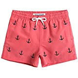 MaaMgic Boys Cute Anchor Swim Trunks 8T Toddler Swim Shorts...