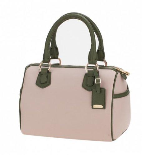 Ismachseven Andrea Handbag -Light pink with green