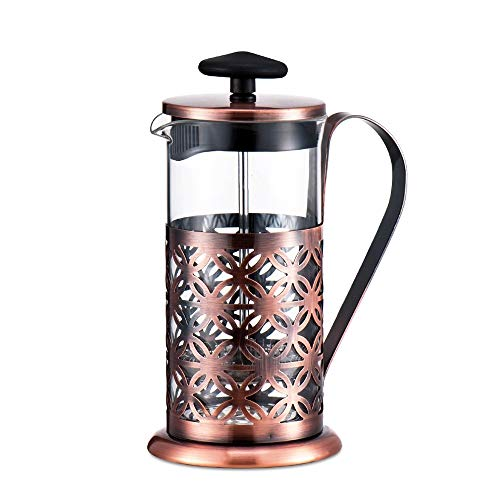 Vobajf Caffettiere a pistone Coffee Pot Stampa in Acciaio Inossidabile Press Pentola in Acciaio Inox tè e caffè delle Famiglie Coffee Pot 350ml cafetieres (Colore : Stainless Steel, Size : 350ml)