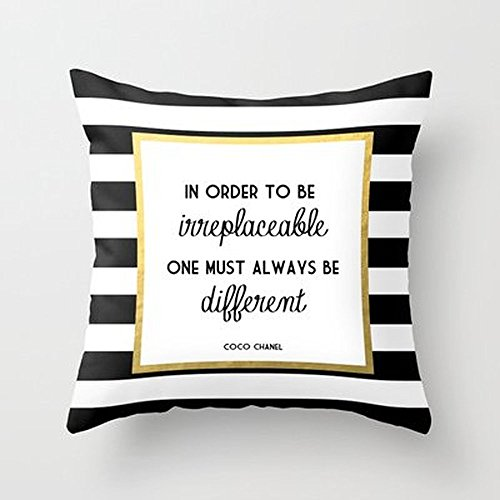 Busy Deals New Coco Gold Fashion Quote Pillowcase Home Decoration pillowcase covers