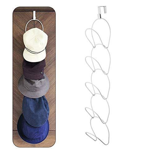 Jourbon cap Holder Portabottiglie Porta Cappello Rack per Cappelli Cappelli Scialle Berretti da Baseball Borsa Salvaspazio cap Collezione Bagno Porta dell'Armadio, 1 Set