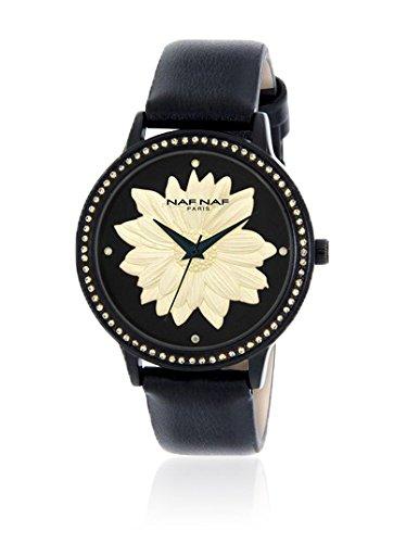 Naf Naf Reloj de Cuarzo Woman Naf Naf D Ipb/Noir Flower/Fleur Black Ivory/Noir Ivoire 35 mm