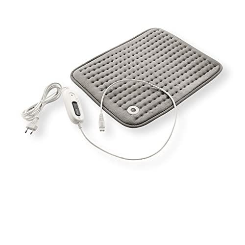 Almohadilla electrica manta calor 6 niveles de temperatura para lesiones, dolores, automatica 47cm x 36cm aprox.con sistema de seguridad
