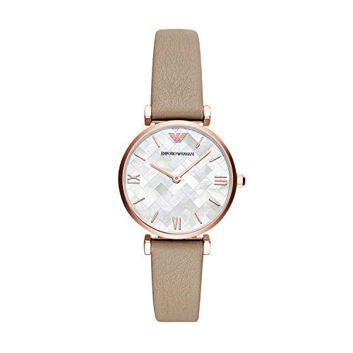 Emporio Armani Damen Analog Quarz Uhr mit Edelstahl Armband AR11111
