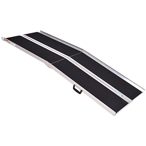 Goplus aluminum Non-Skid portable wheelchair ramp