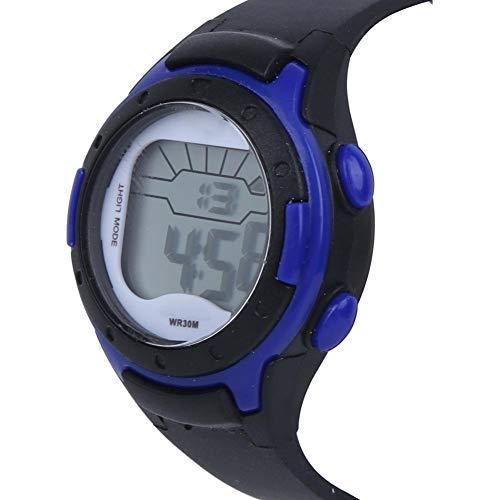 Evonecy Reloj con Correa de PU, Reloj de Pulsera electrónico de Longitud fácil de Ajustar, Correa de PU Suave antialérgica(9688-1 Black)