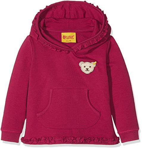 Steiff Baby-Mädchen Sweathirt 1/1 Arm Sweatshirt, Rot (Anemone|Red 2144), 74