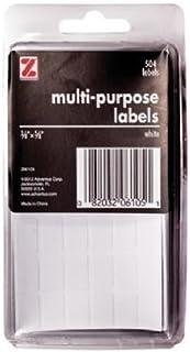 ملصقات متعددة الاستخدامات ذاتية اللصق من أدفانتس، 2.54 × 6.91 سم، 128 ملصقة، أبيض (Z06113) 3/8 x 5/8 Inch (504 Labels)