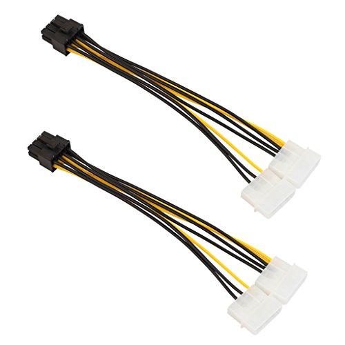 4-Pin Männlich 8-Polig PCI Express PCIE Weiblich Leistung Adapter Grafikkarten-Stromkabel Adapter Strom Kabel - 2 Stücke