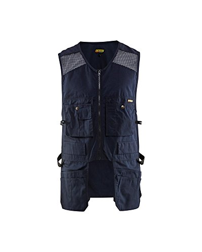 Blaklader US Utility Vest with Mesh for Carpentry Construction (Navy, XXL)