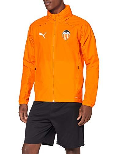 PUMA Valencia CF Temporada 2020/21-Rain Jacket Vibrant Orange Chaqueta, Unisex, L