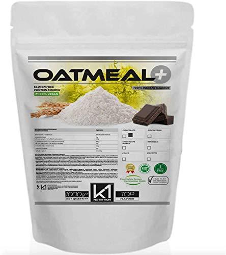 FARINA D' AVENA K1 Nutrition OATMEAL + 1000 gr (1kg) Avena Aromatizzata Istantanea Senza Zuccheri...