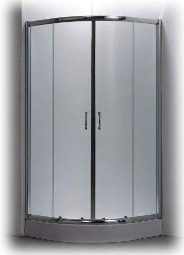 Box doccia semicircolare in vetro 80x80 cm incluso di piatto doccia con telaio in acciaio con piedini regolabili) non necessita di opere muraria