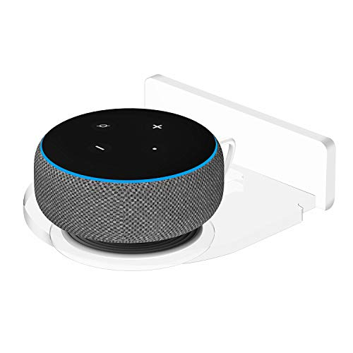 Moretek Hanger Stand for Google Home Mini Echo Dot Bluetooth Smart Speakers, Home Outlet Compact Wall Mount Shelf for Echo Dot 1st 2nd 3rd Speakers All Models Hide Messy Wires Phones Clocks Holder