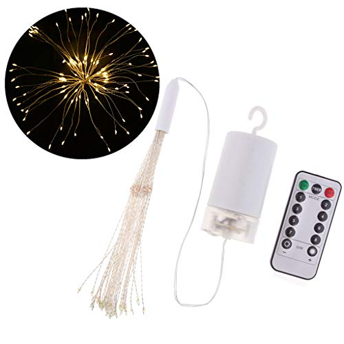 VANKOA LED Lichter 100/120/150 LEDs Weihnachtslichterkette Geschenke - Mehrfarbig, Batterie 100LEDs Warmweiß