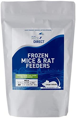 MiceDirect 50 Large Adult Mice: Pack of Frozen...