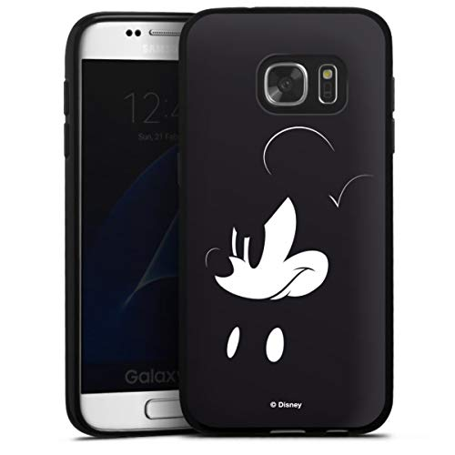 DeinDesign Silikon Hülle kompatibel mit Samsung Galaxy S7 Case schwarz Handyhülle Mickey Mouse Offizielles Lizenzprodukt Disney