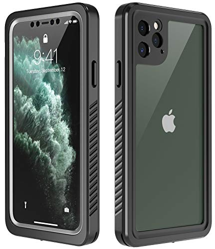 Temdan iPhone 11 Pro Max Case,Built-in Screen 360 Full-Body Protector Real Heavy Duty Rugged Shockproof Dustproof Cases for iPhone 11 Pro Max 6.5 inch 2019 Release-(Black/Clear)