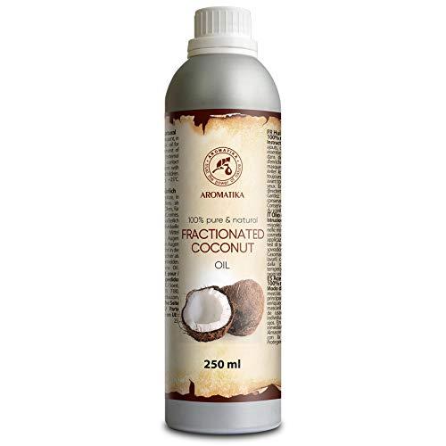 Gefractioneerde kokosolie 250ml, 100% puur natuurlijke lichaamsboter - rijk aan mineralen & vitamines voor intensieve huidverzorging - massage - wellness - cosmetica - ontspanning - anti-rimpels - anti-aging - hydrateert - vochtinbrengend