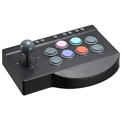 King Bomb Con botones programables, funciones MACRO y TURBO. Joystick controlable para base de goma, compatible con PC / PS3 / PS4 / Android/TV/tableta/proyector y conexión a PC