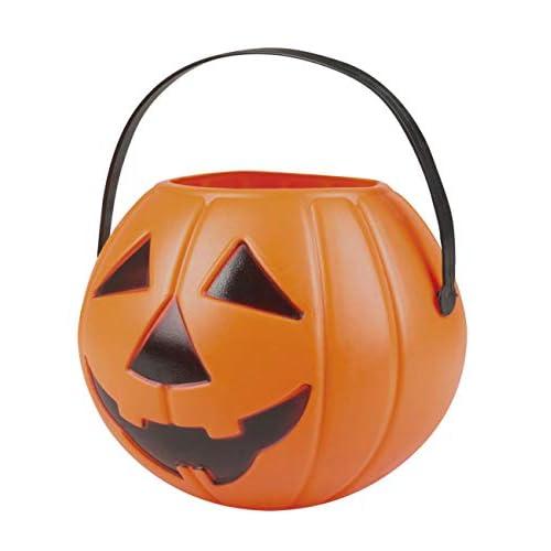 Boland- Cestino Zucca Halloween 'Dolcetto o Scherzetto' per Bambini, Arancione, 14x16 cm, 74589