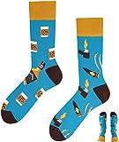 TODO Colours Lustige Socken mit Motiv - Mehrfarbige, Bunte, Verrückte für die Lebensfreude (Whiskey Socks, numeric_43)
