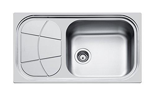 Foster Big Bowl Lavello, Metallo, Spazzolato, 86x50x19,5 cm