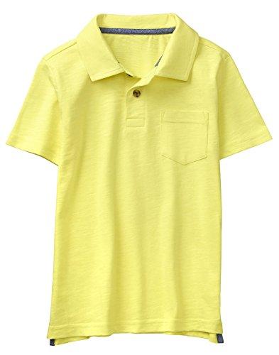 Gymboree Boys' Little Short Sleeve Pocket Polo Shirt, Electric Yellow, L
