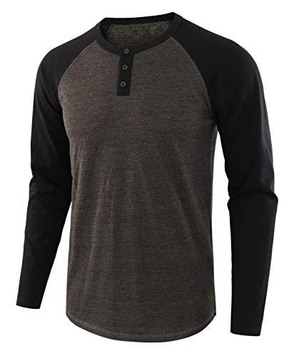 LBL Sweat Shirt Pull Homme Col Rond Respirant Souple Manches Longues pour Printemps Automne Noir M