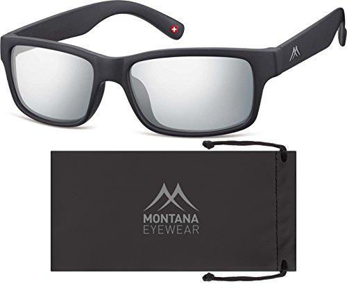Montana Eyewear Sunoptic MS27 Sonnenbrille in schwarz, inklusive Softetui