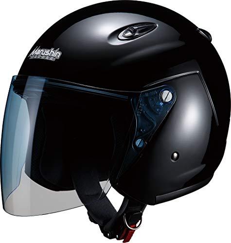 マルシン(MARUSHIN) バイクヘルメット ジェット M-400 ブラック フリーサイズ(57~~60CM未満)