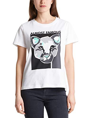 MARC CAIN SPORTS T Shirts Camiseta, (White 100), 44 (Talla del Fabricante: 5) para Mujer
