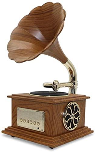 ZSMLB Gramófono Vintage reproducción Cuerno latón Tocadiscos Altavoz Tocadiscos fonógrafo