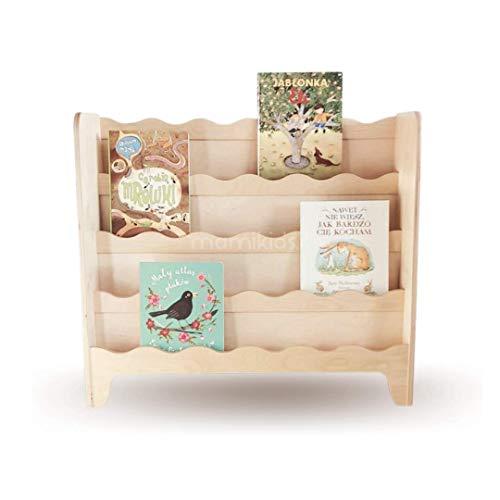 Mami - Librería Montessori de madera para niños | dormitorio infantil | Porta libros cómics cuadernos de dibujos | 100% Made in Italy | 4 estantes