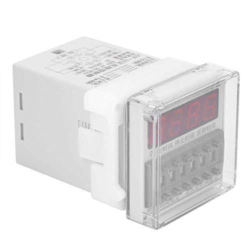 YHtech Controlador de Tiempo Relay, Controlador de Motor CW/CCW Interruptor automático Timing Forward y el Tiempo inverso Controlador de relé 0.1S-99H (220VAC) Herramientas industriales