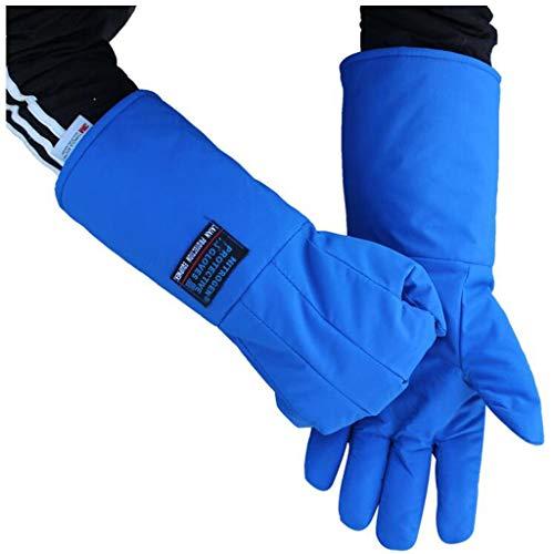 Handschuhe Flüssigstickstoff Schutzhandschuhe Kälteschutzhandschuhe Frostschutzhandschuhe Trockeneis Kälteschutzhandschuhe LNG-Kühlung Trockeneis Warme Handschuhe (Farbe : Blau, Size : L38cm)