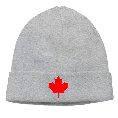 Lawenp Gorro de tejido suave para hombres y mujeres, gorra de calcetín de hoja de arce de Canadá con bandera canadiense
