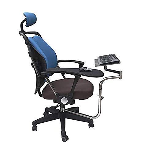 WXH Supporto per Laptop/Tastiera/Mouse, scrivania Girevole per Computer da Gioco, riunioni a casa Pieghevole Sollevamento telescopico ergonomico, per Workstation/Videogiochi/Nero