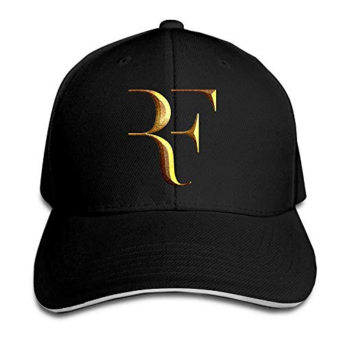 Pimkly Gorra para hombre,Gorras Beisbol Professional Tennis Player Roger Federer Logo Sandwich Peaked Baseball Caps/Hats Adjustable For Unisex