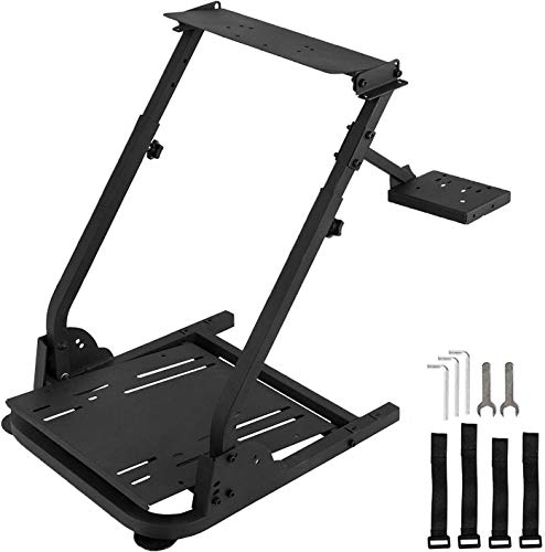 Racing Wheel Stand with Shifter Mount, Racing Steering Wheel Stand Height Adjustable, Gaming Wheel Stand fit for Logitech G920 G29 G27 G25, Wheel and...