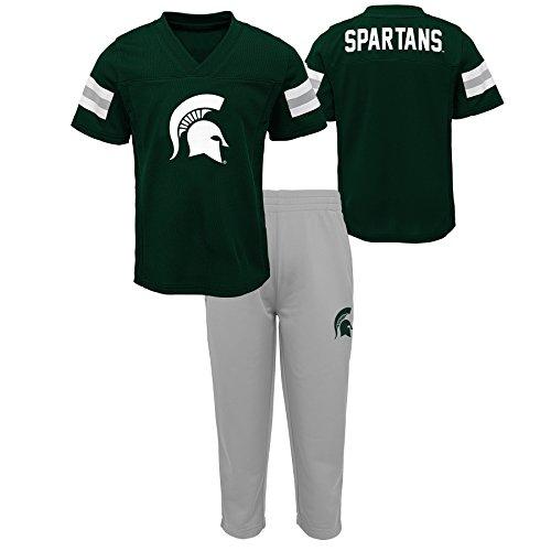 NCAA Michigan State Spartans Newborn & Infant Training Camp Top & Short Set, 12 Months, Hunter Green