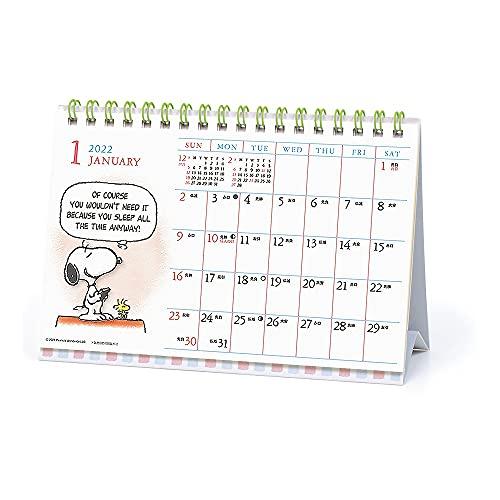 2022年 PEANUTS(スヌーピー)/水彩スケジュール(卓上) カレンダー 1000120193 vol.147